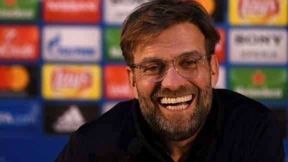 """Klopp:""""Because we are live on TV, I don't walk out of the room after this question."""