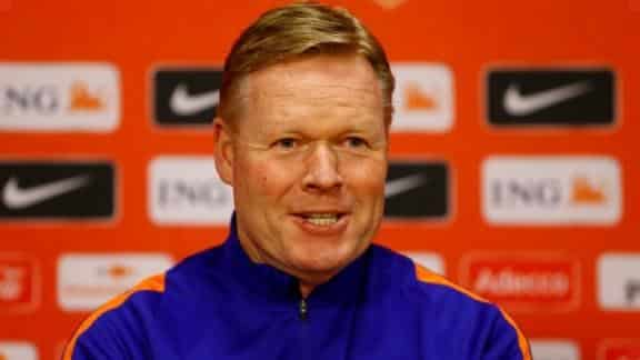Koeman: 'If I don't choose him, it's not because he has played too little'.