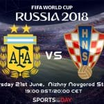 Argentina vs Croatia World Cup 2018 Russia match up decider for group D