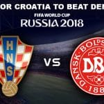 Croatia vs Denmark round of 16 World Cup 2018