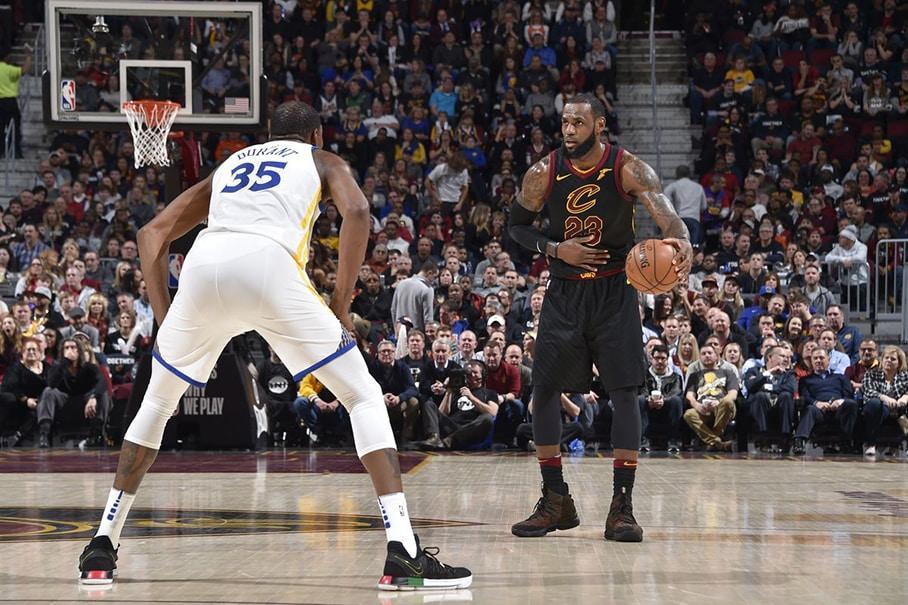 Cavs LeBron James vs Golden State Kevin Durant