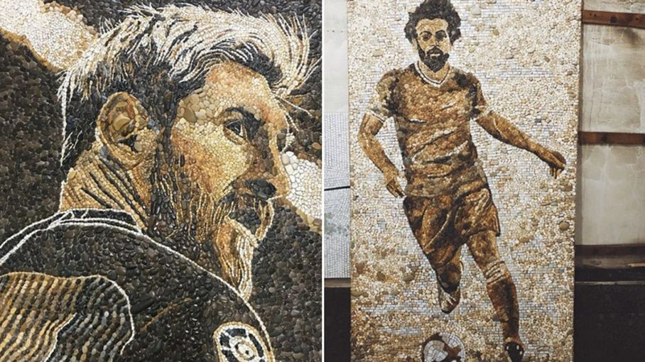 Messi Salah Mosaic Kazan Russia World Cup 2018