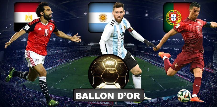 Ballon D'or 2018 Salah, Messi Ronaldo