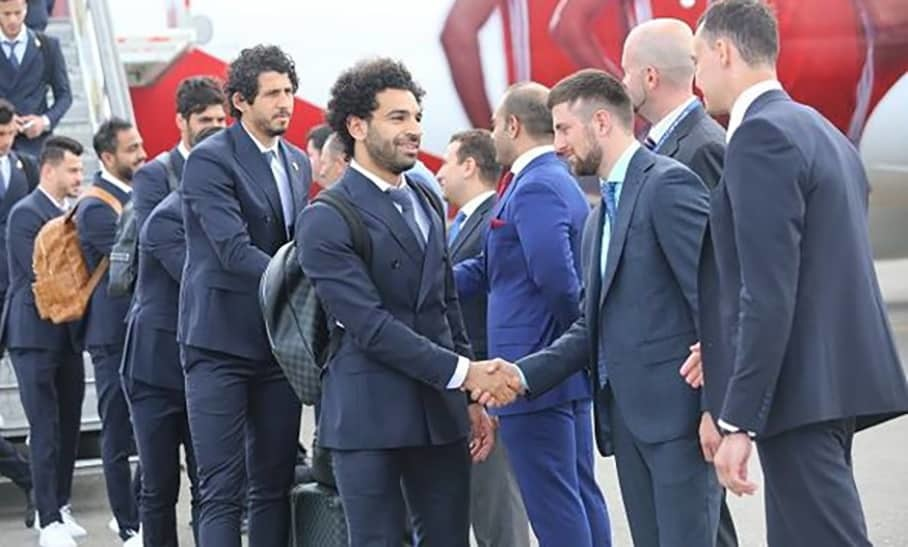 Salah's Egypt arrived in Russia for 2018 World Cup