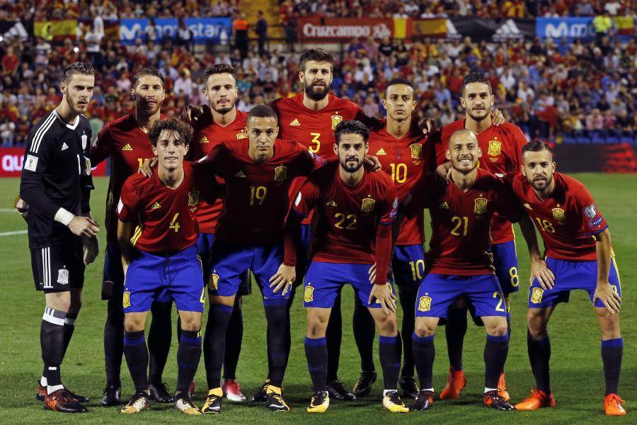 Spain nation football squad for world cup 2018 Russia