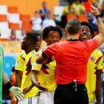 Carlos Sanchez red card Colombia vs Japan