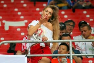 Polish hot fans in world cup 2018