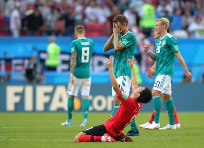 Niemcy po przegranym meczu z Koreą