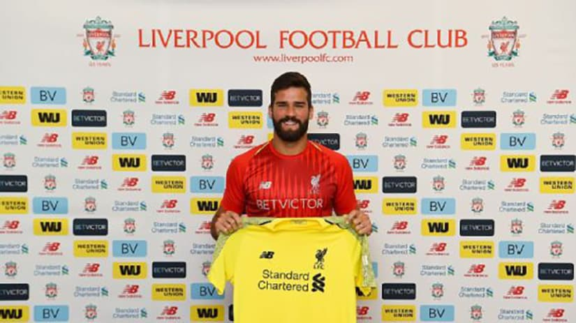 Allisson signs for Liverpool