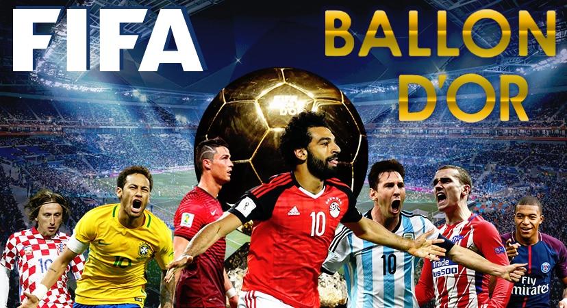 Ballon d'Or 2018 Ronaldo, Messi, Salah, Neymar, Grizmann, Modric, Mbappe