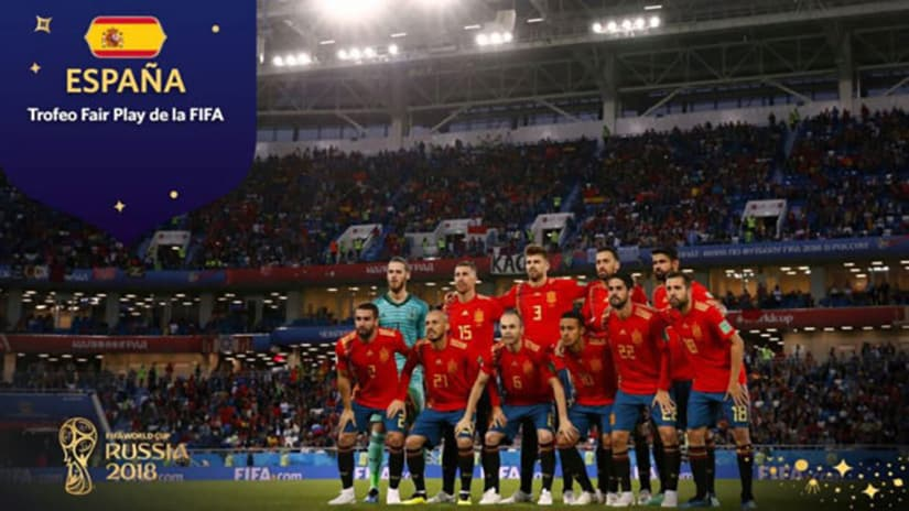 FIFA Fair Play World Cup 2018 Spain