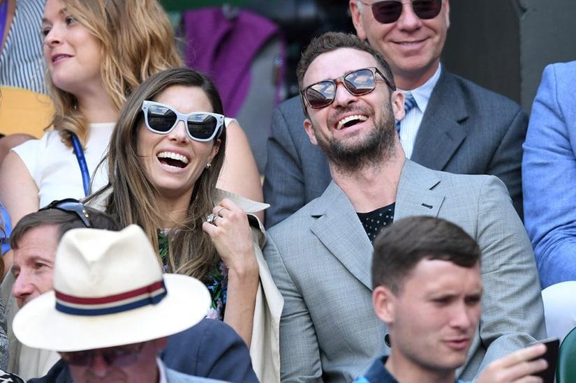 Justin Timberlake Jessica Biel Wimbledon July 2018