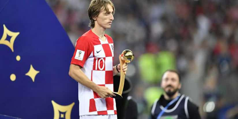 Luka Modric Golden Ball World Cup 2018