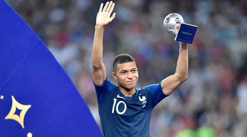 Mbappe best young player silver ball