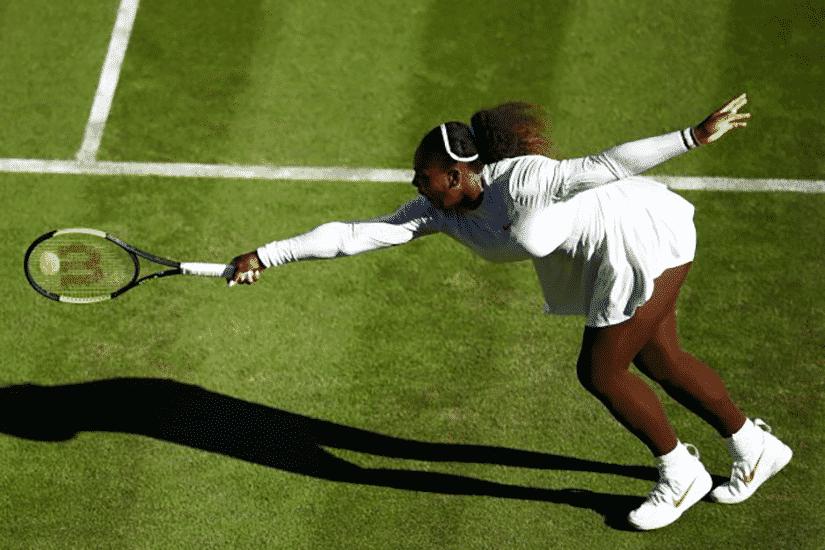 Serena Williams Wimbledon 2018 in tights