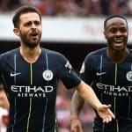 Bernardo Silva Raheem Sterling Manchester City