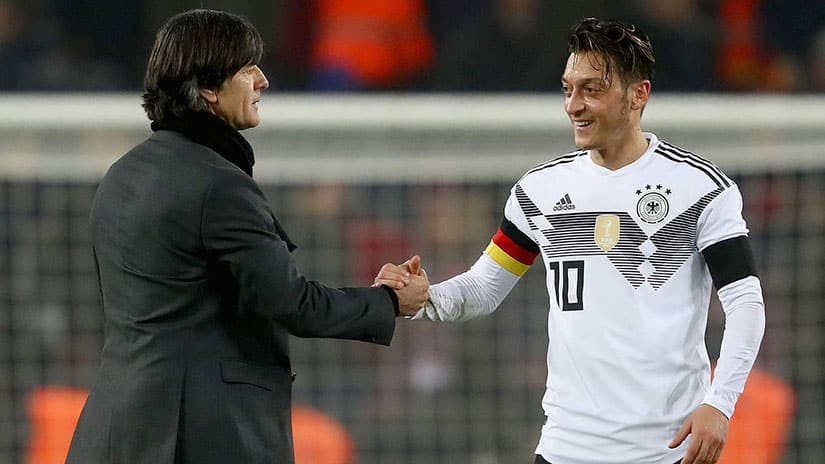 Joachim Löw and Mesut Ozil