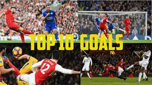 Top 10 Goals Premier League 17/18