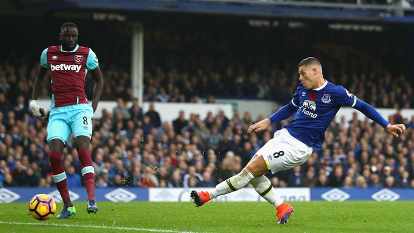 Everton Facing West Ham English Premier League