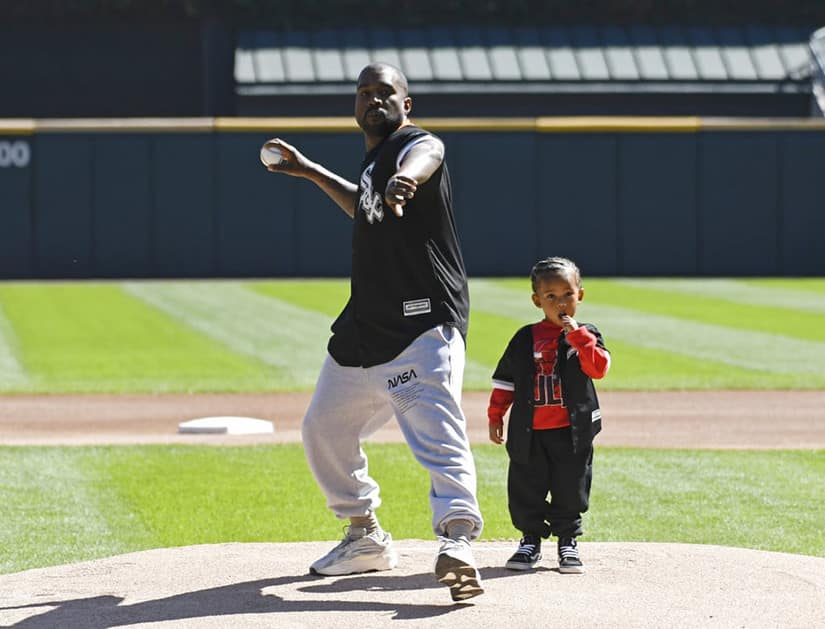 Kanye-West-Saint-West-Throw-First-Pitch-Baseball-Game
