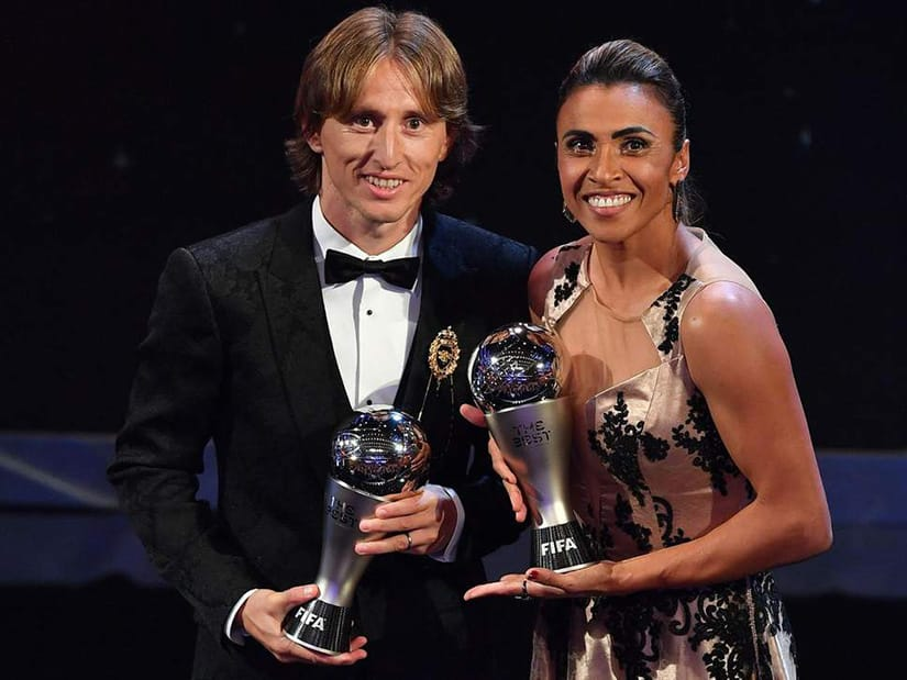 Modric and Marta FIFA player of the year