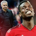 Paul Pogba and Jose Mourinho Manchester United