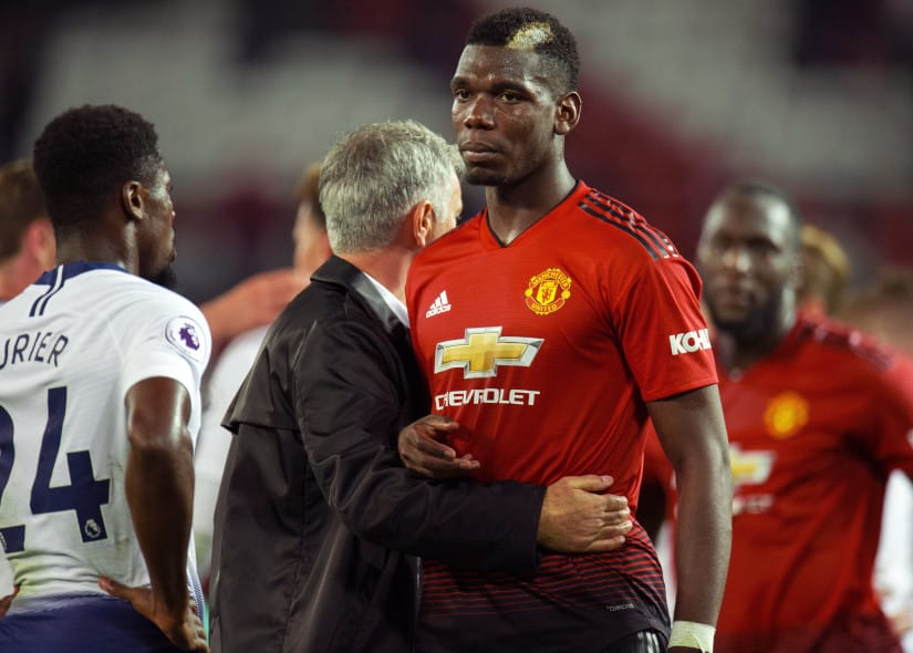 Paul Pogba and Mourinho