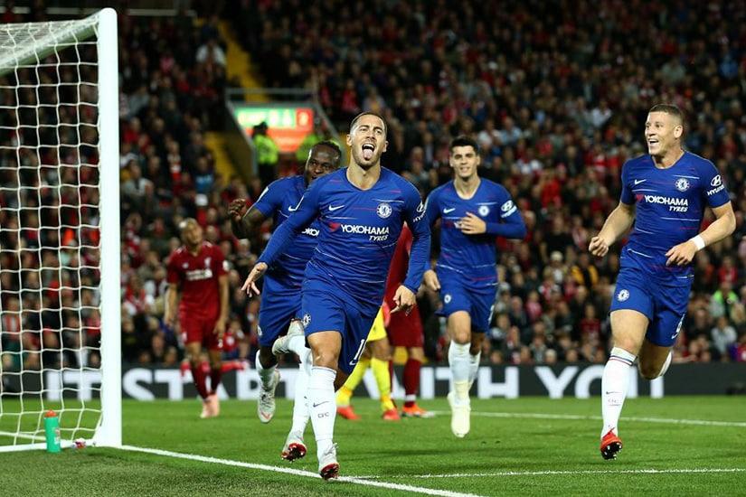 chelsea vs liverpool Hazard goal