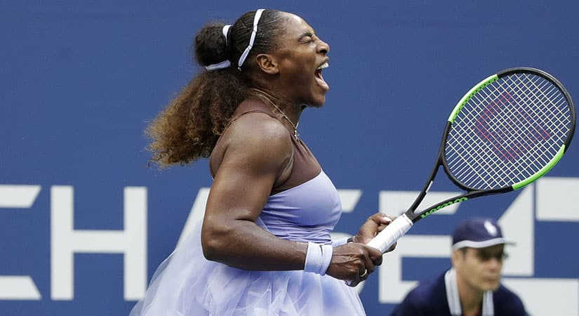 serena williams beat Kaia Kanopi