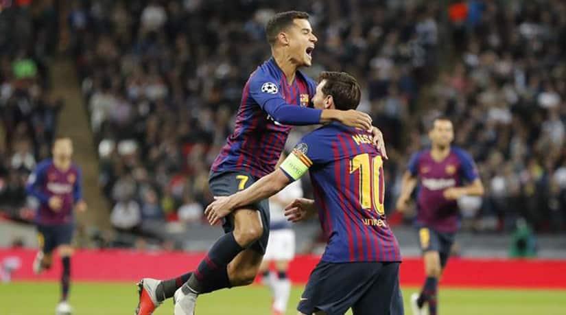 Barcelona Beat Tottenham 4-2-Messi Scores Two Goals Coutinho