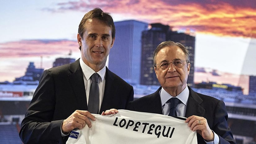 Florentino Perez and Lopetegui