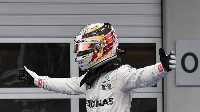 Lewis Hamilton won five of last six GPs